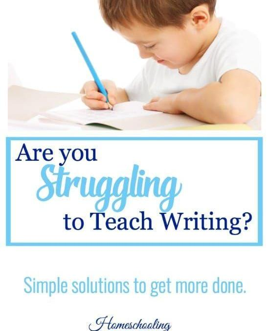 Are You Struggling Teaching Writing This Year?