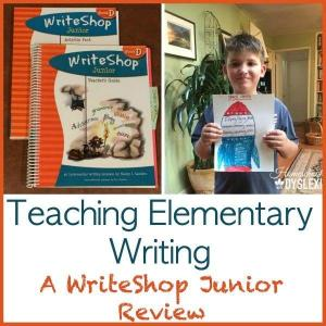 Teaching Elementary Writing:  WriteShop Junior Review