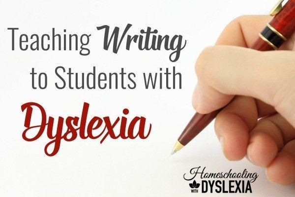 dyslexia writing support
