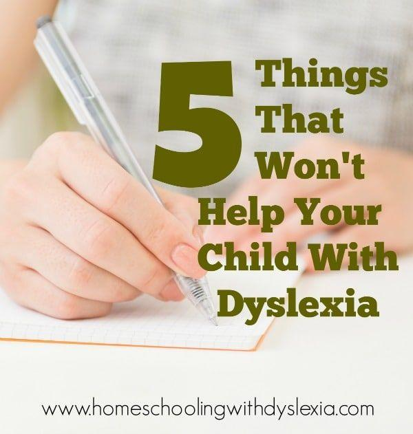 If you are seeking a way to help your dyslexic child overcome their learning struggles, here are a few things that will and won't help kids with dyslexia