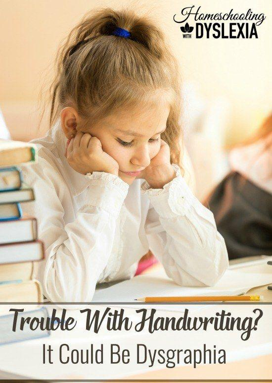 Trouble With Handwriting Dysgraphia