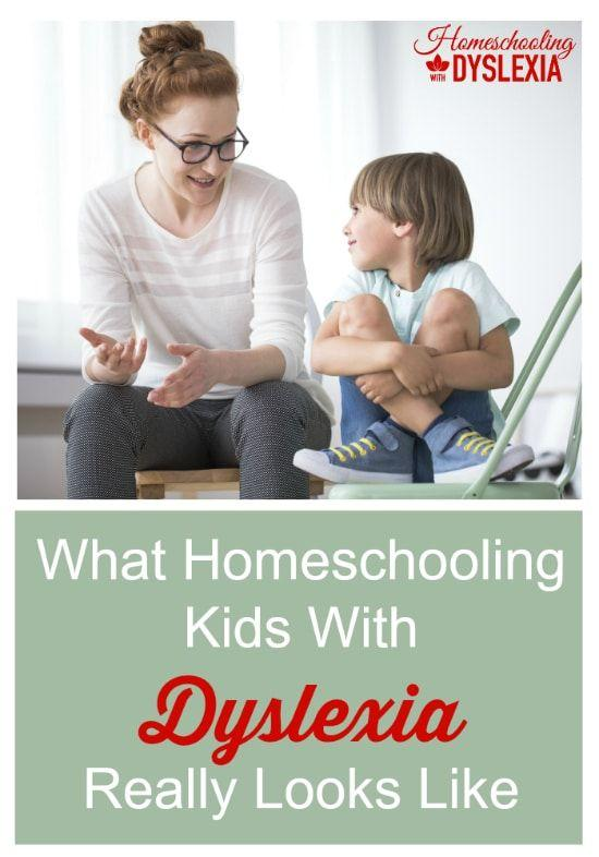 Have you ever wondered what homeschooling kids with dyslexia really looks like? We are sharing the ins, outs, and how to's in this blog post.  #dyslexia #specialneeds #homeschooling HomeschoolingwithDyslexia.com