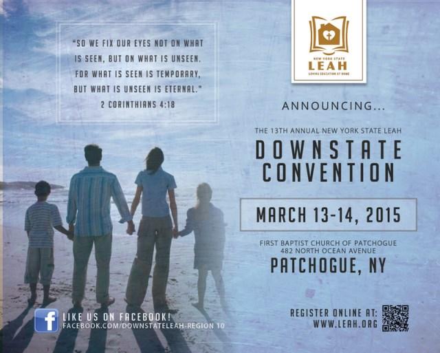 13th Annual Downstate LEAH Homeschool Convention