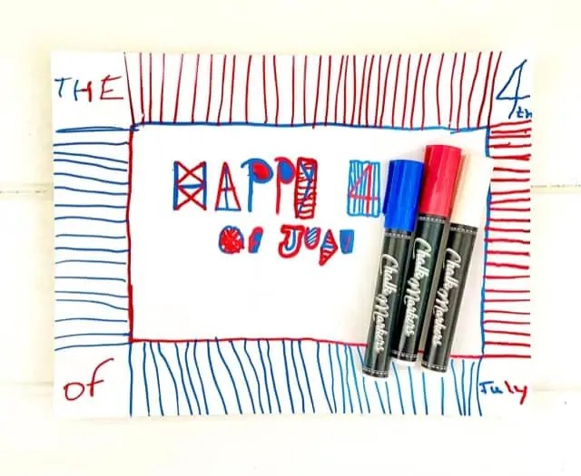 Kids 4th of July Chalk Marker