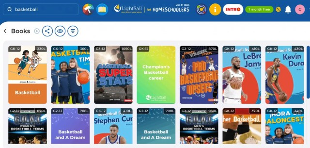 Onnline reading program with Lightsail. Over 10k online books in the library.