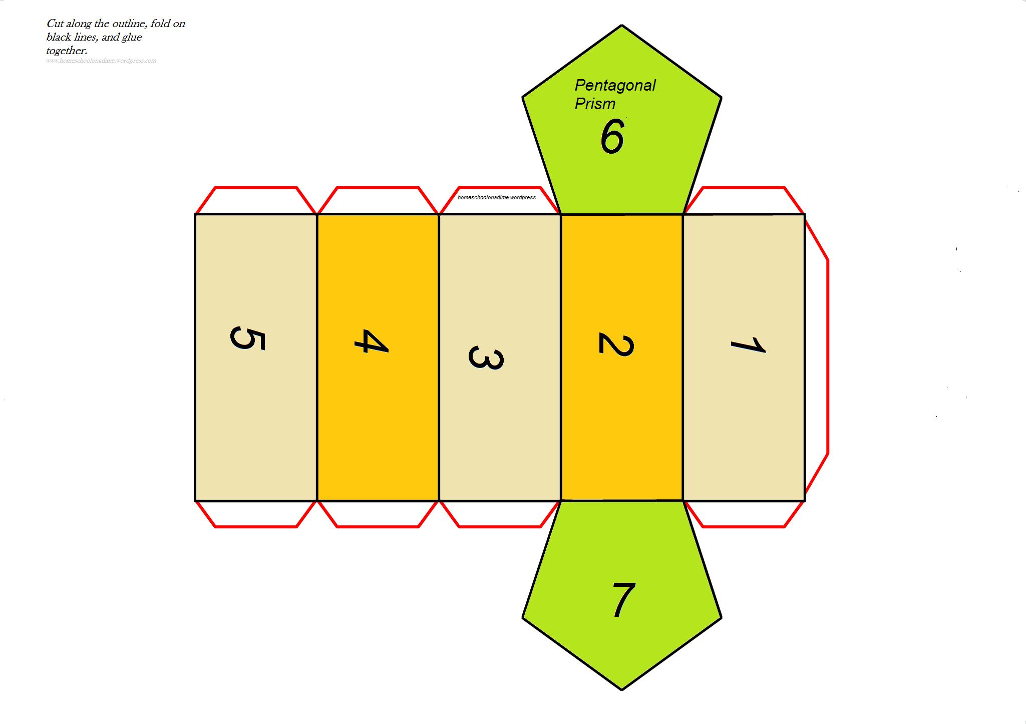 Free Complex Shape Printable Pentagonal Prism Home School On A Dime
