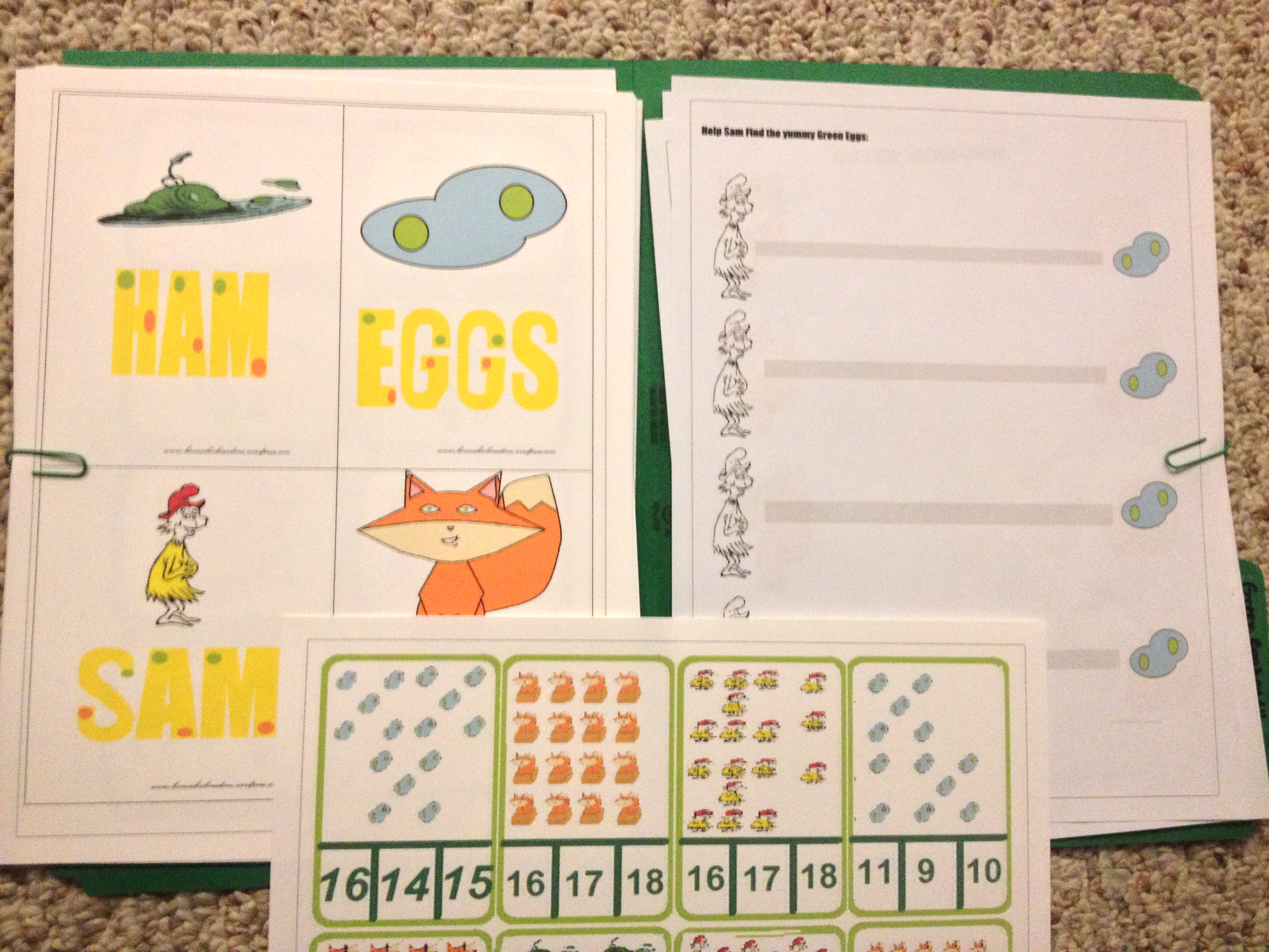 Green Eggs And Ham Pre K Pack Home School On A Dime