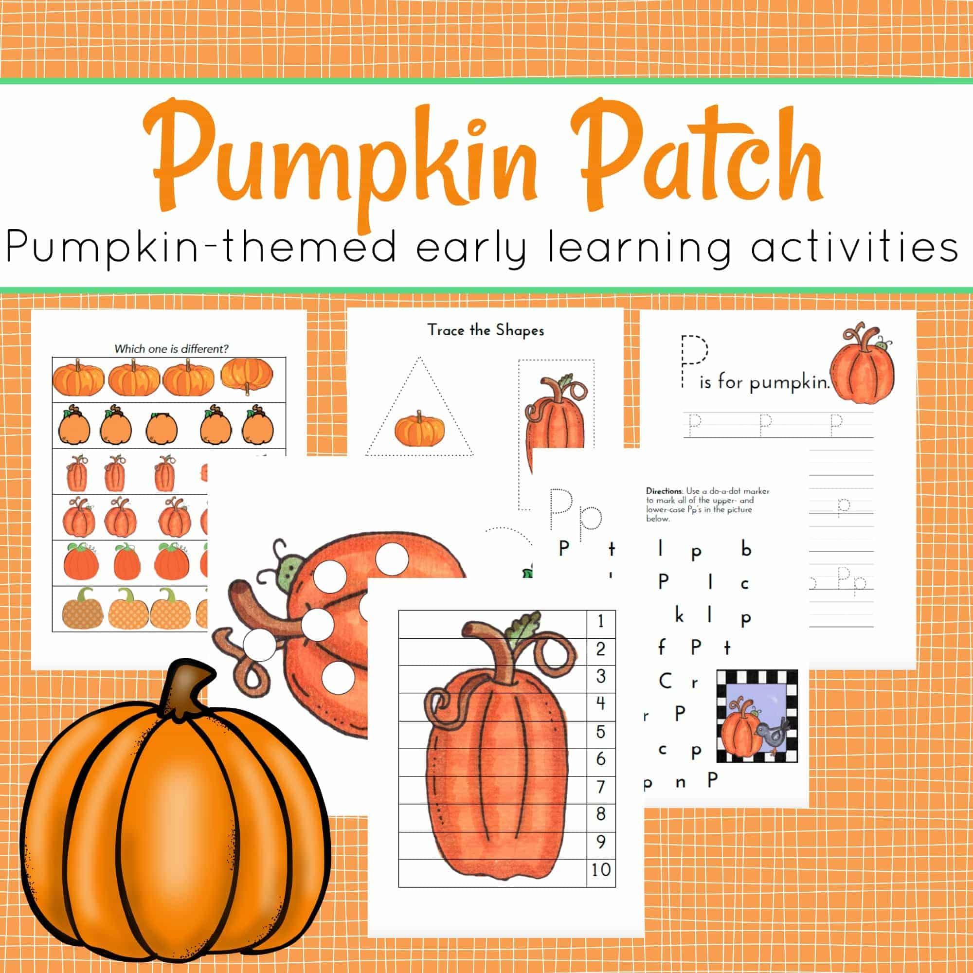 The Perfect Pumpkin Printable For Preschoolers