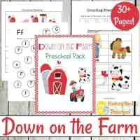 Printable Preschool Farm Activities