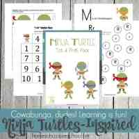 Ninja Turtles Printable for Tots and Preschoolers