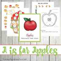 Preschool Apple Activities and Printables