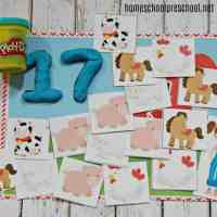 Farm-Themed Preschool Counting Mats