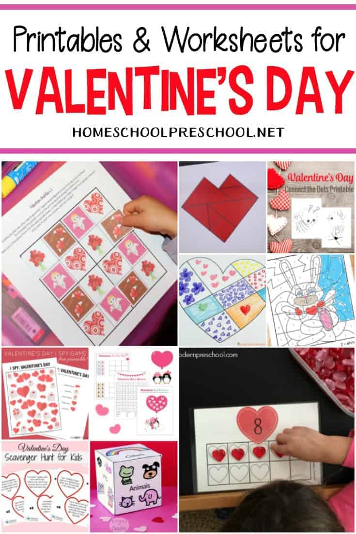 hight resolution of 24 FREE Printable Valentines Worksheets for Kids