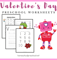 Free Printable Valentine Worksheets for Preschoolers [ 1080 x 1080 Pixel ]