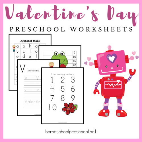 small resolution of Free Printable Valentine Worksheets for Preschoolers