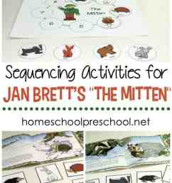 Free Jan Brett's The Mitten Story Sequence Activities [ 1100 x 735 Pixel ]