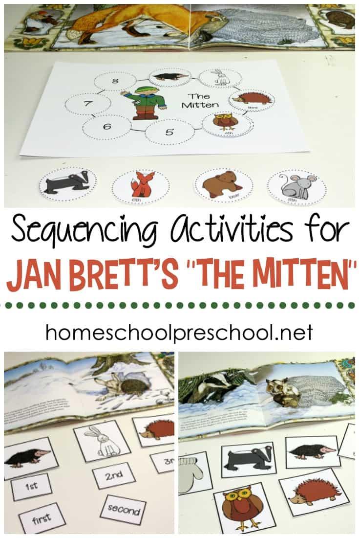 medium resolution of Free Jan Brett's The Mitten Story Sequence Activities