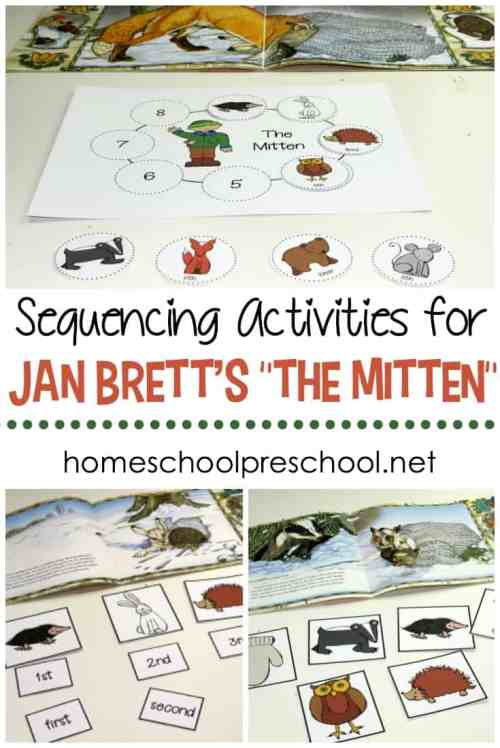 small resolution of Free Jan Brett's The Mitten Story Sequence Activities