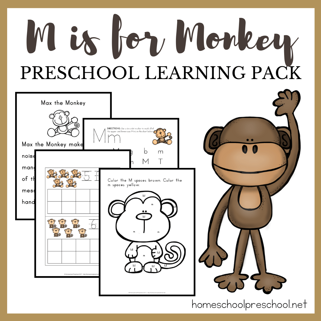 Free Printable Preschool Monkey Activities