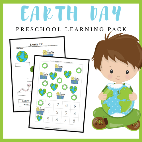 small resolution of Free Printable Earth Day Worksheets for Preschool