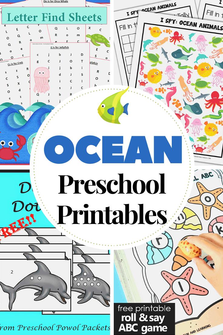 medium resolution of 25+ Preschool Ocean Theme Printables for Summer