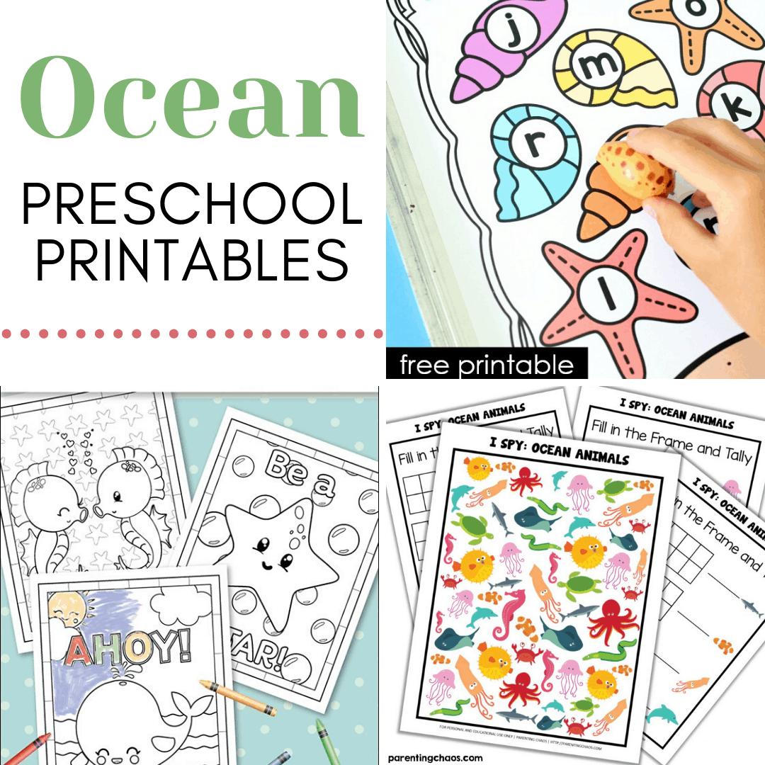 25 Preschool Ocean Theme Printables For Summer