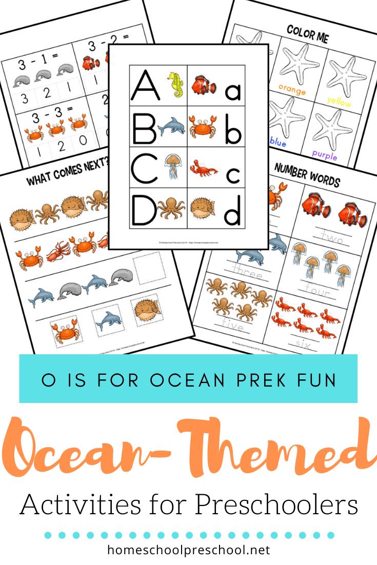 hight resolution of Free Printable Preschool Ocean Worksheets