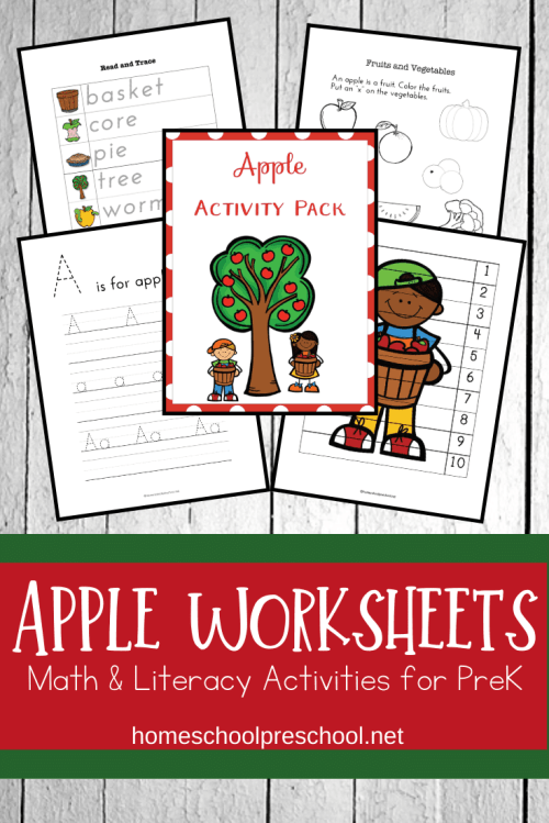 small resolution of Free Printable Apple Worksheets for Preschoolers