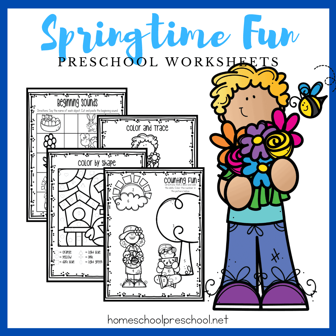 Free Printable Spring Worksheets For Preschool Skills