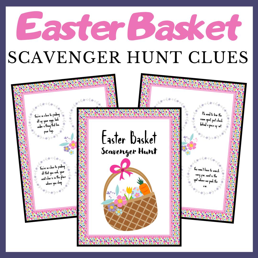 Printable Easter Egg Scavenger Hunt Clues For Kids
