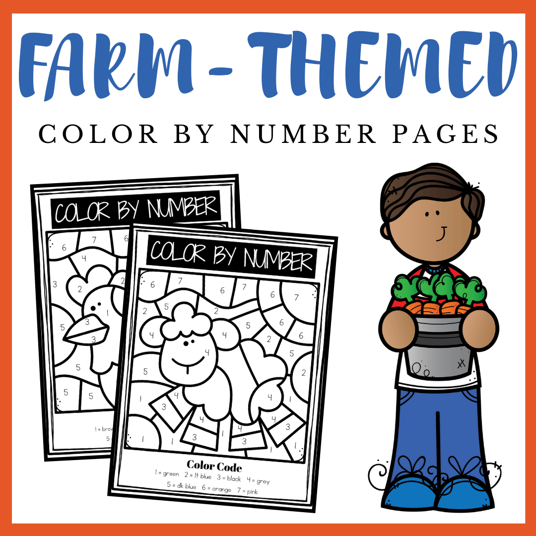 Free Printable Farm Color By Numbers Worksheets