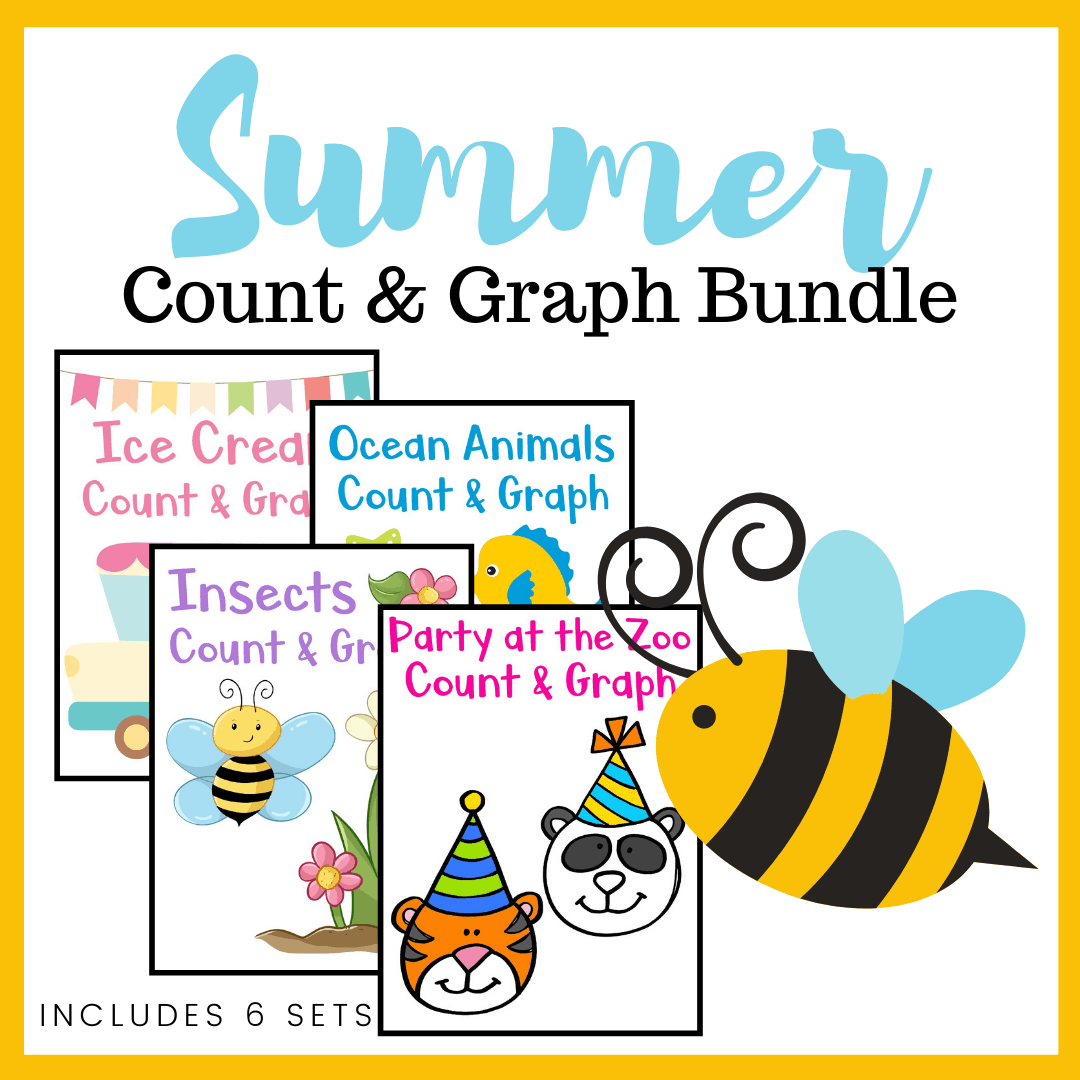 Summer Count And Graph Bundle For Preschoolers