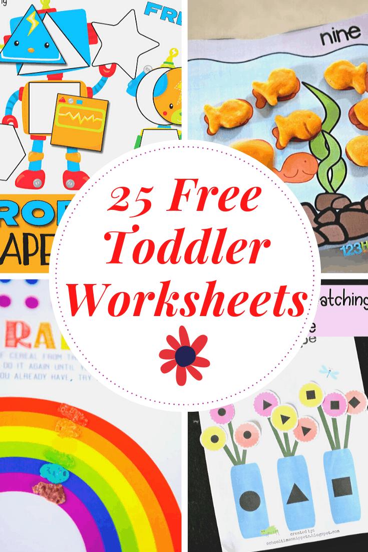 medium resolution of Free Printable Toddler Worksheets to Teach Basic Skills