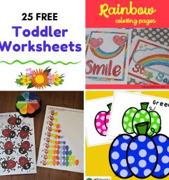 Free Printable Toddler Worksheets to Teach Basic Skills [ 1080 x 1080 Pixel ]