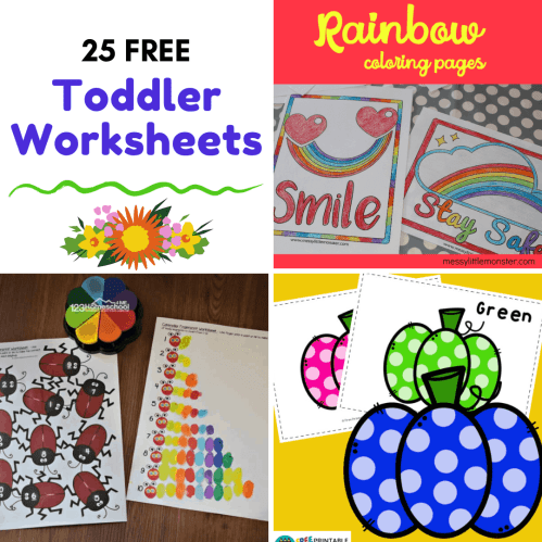 small resolution of Free Printable Toddler Worksheets to Teach Basic Skills