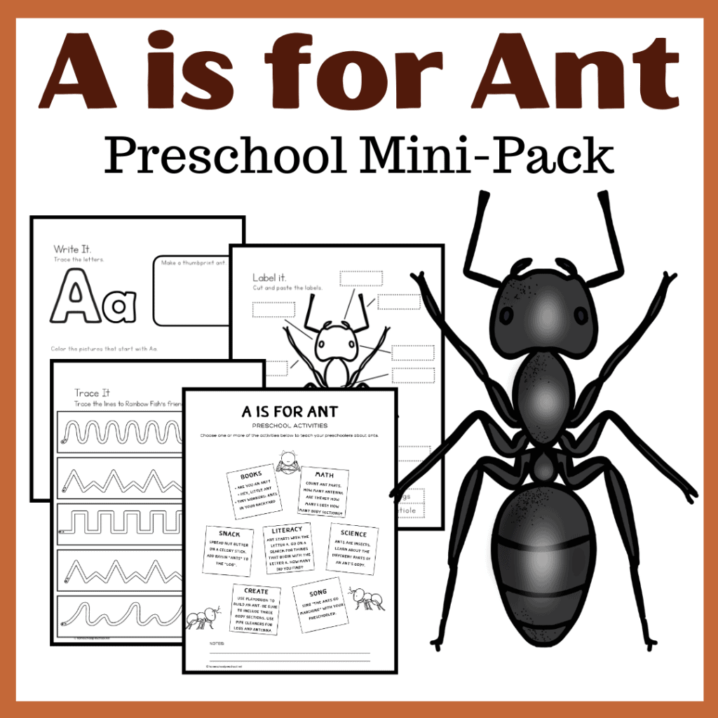 Free A Is For Ant Preschool Printables