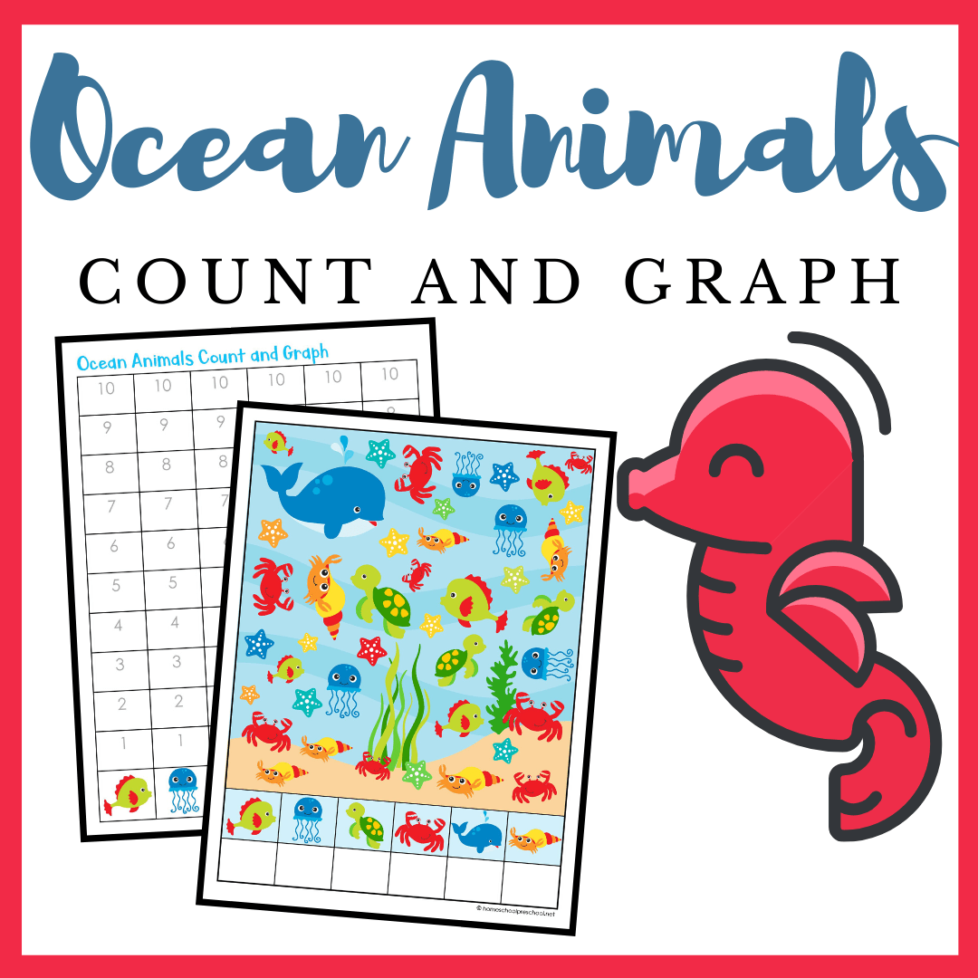 Printable Ocean Animals Count And Graph Worksheets