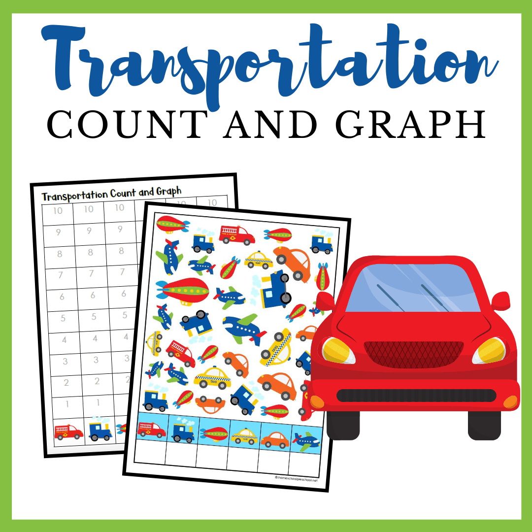 Printable Transportation Count And Graph Worksheets