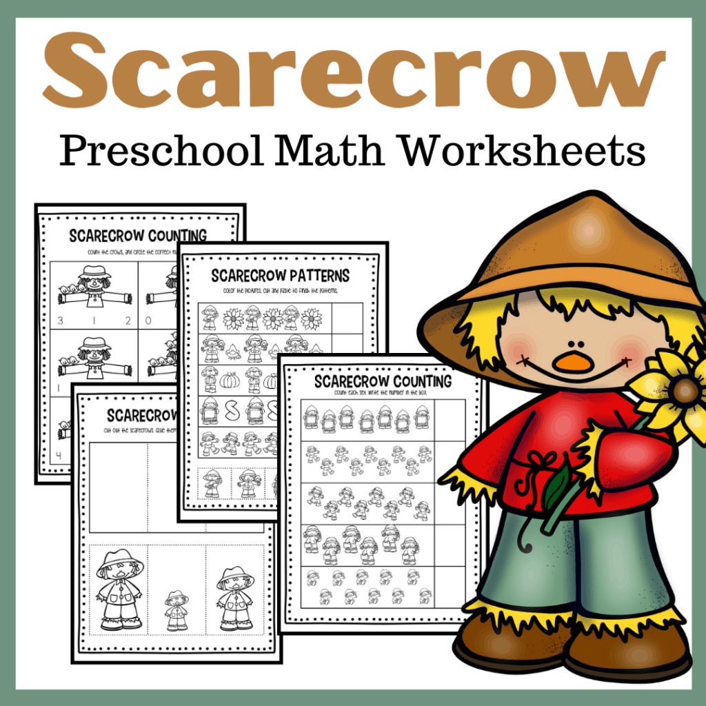 Free Printable Scarecrow Math Worksheets For Preschool