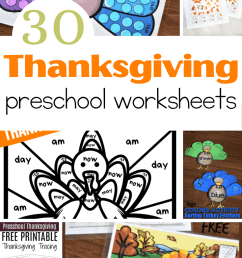 Free Printable Thanksgiving Worksheets for Preschoolers [ 1102 x 735 Pixel ]