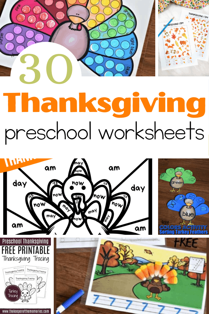 medium resolution of Free Printable Thanksgiving Worksheets for Preschoolers