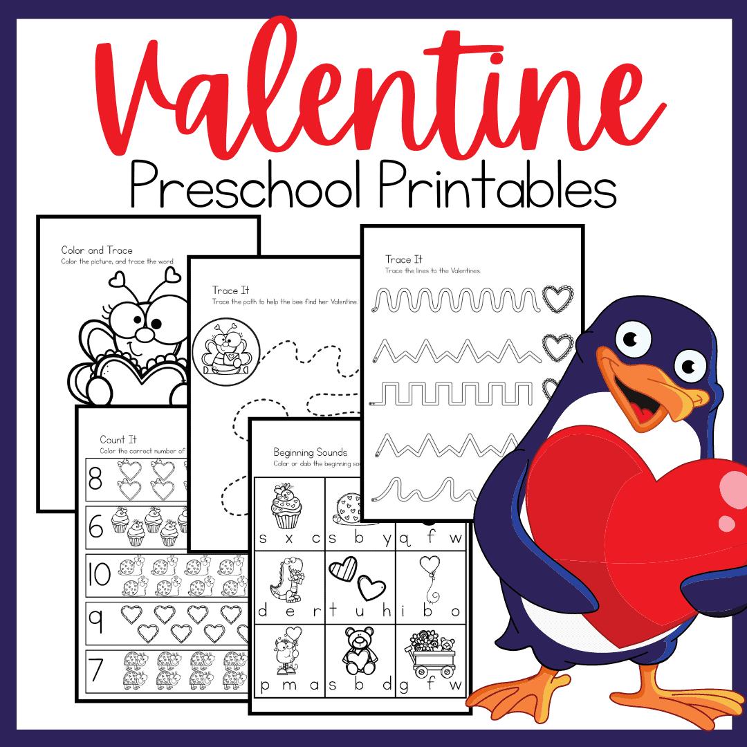 No Prep Valentine Printables For Preschoolers