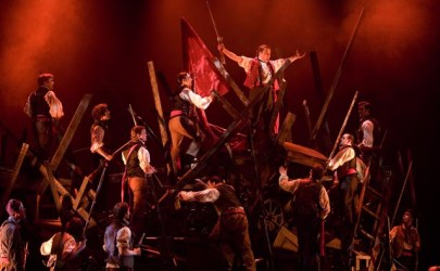 Les Miserables play barricade
