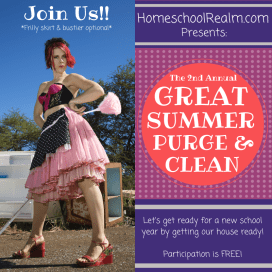 HomeschoolRealm.com presents: The Great Summer Purge and Clean!