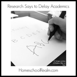 Research says to delay academics