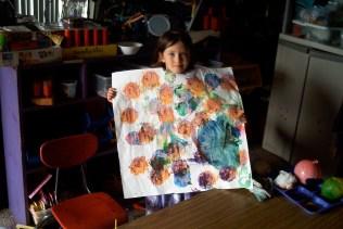 Art area: Balloon printing