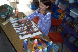 Art area: Roller painting