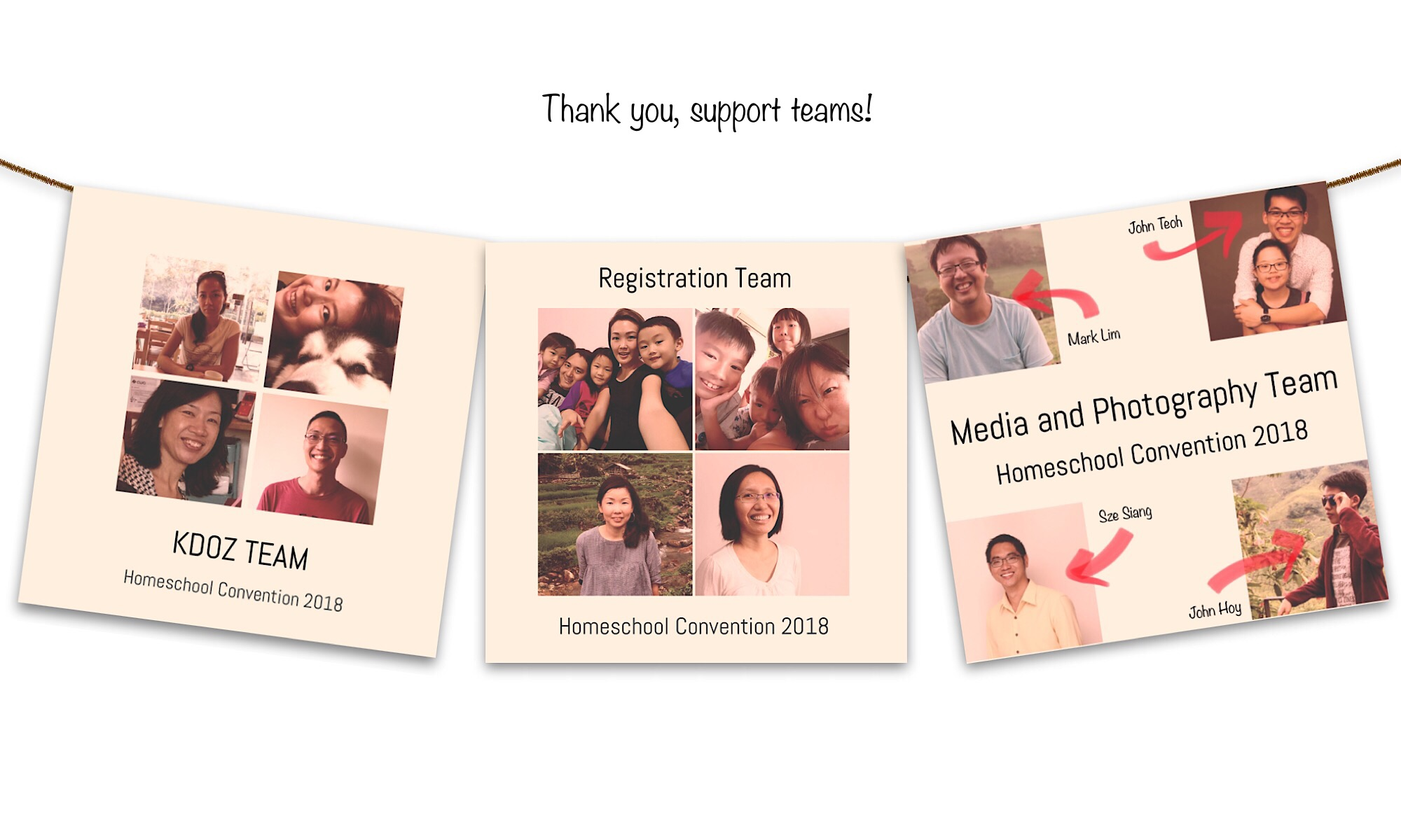 Meet the Support Teams behind the Homeschool Convention 2018!