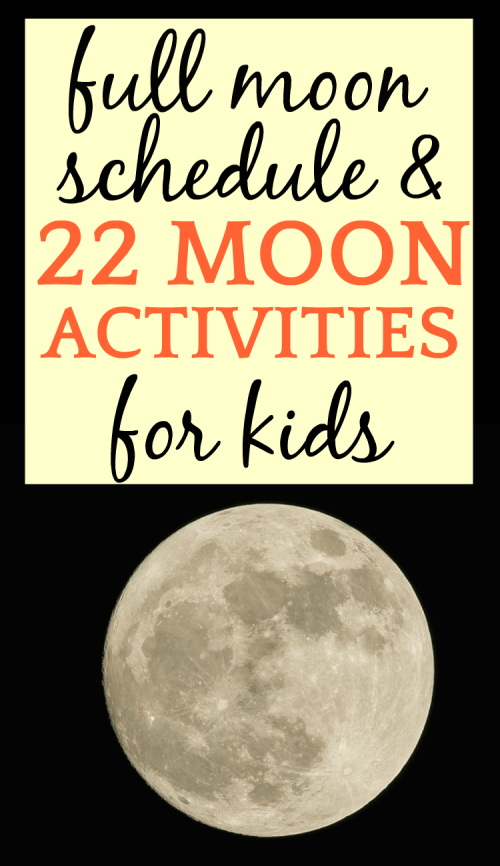 small resolution of Full Moon Schedule 2021 and 27 Moon Activities for Kids