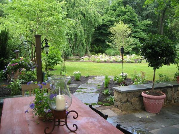 backyard patio design small